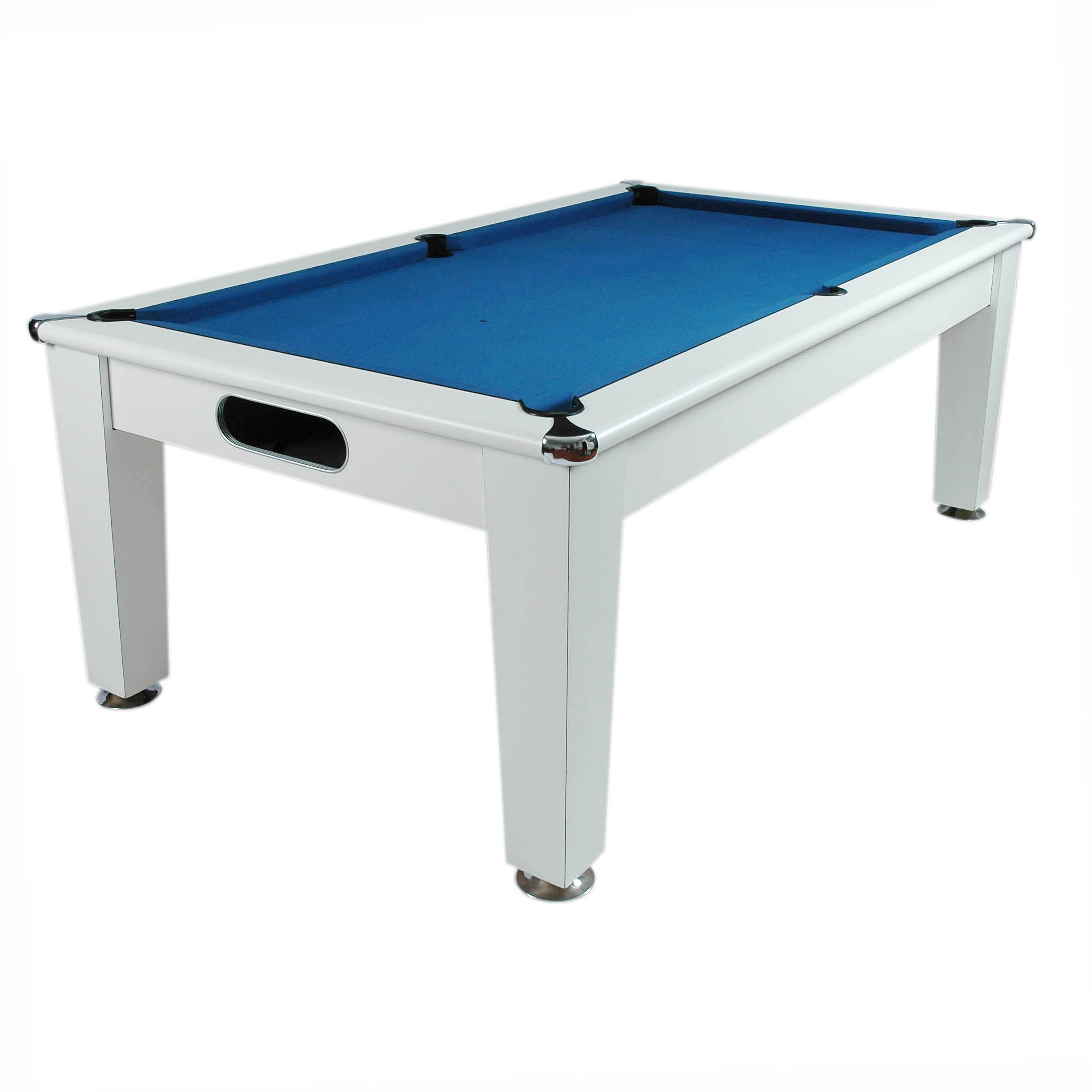 Optima  Roma Diner  White  Slate Pool Table  7ft & 7ft